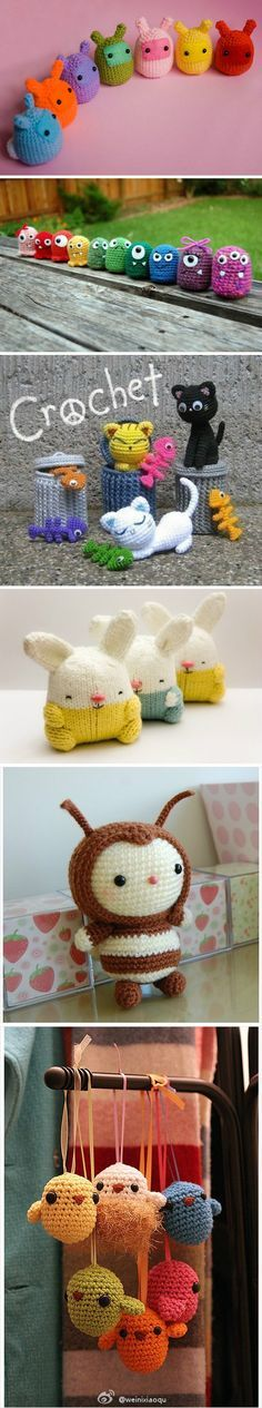 Tutorial for making really cute yarn creations (I can't spell amagurami)