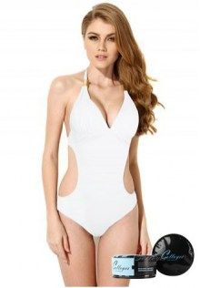Sexy One-piece Swimsuit with Cut-out Side Bathing Suit Bodysuit