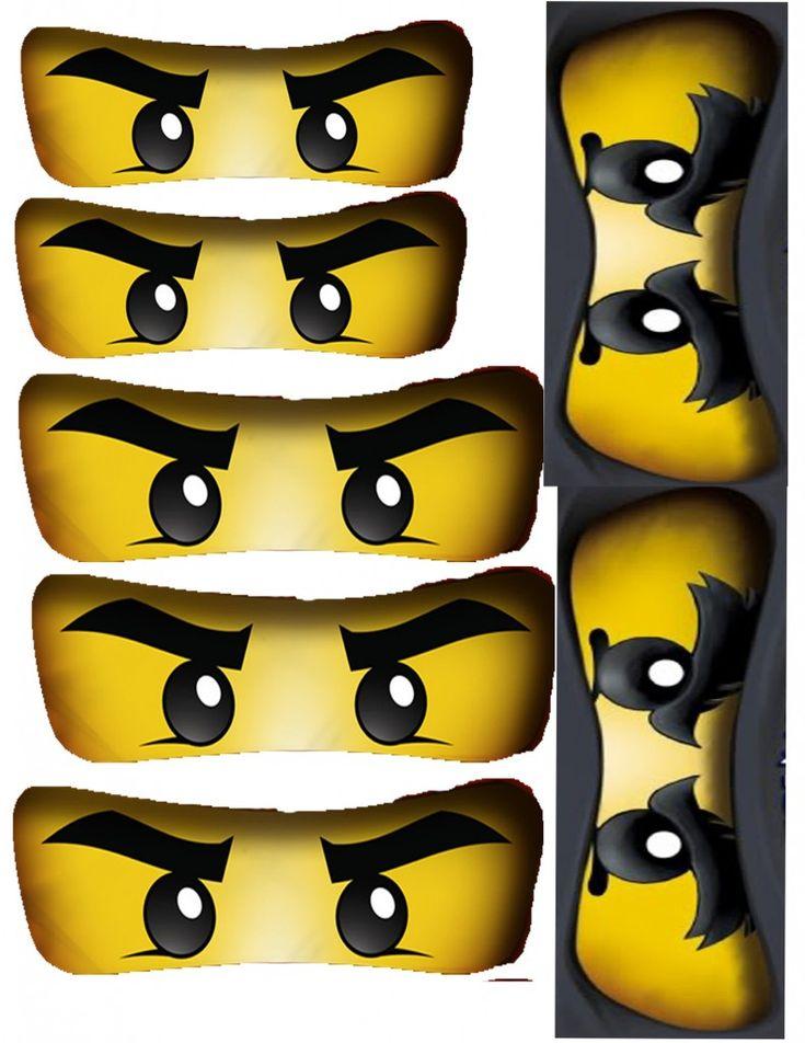 Ninjago Birthday Party + Free Ninjago Party Printables ~ Big Ninjago Eyes Printable #ninjago #printables