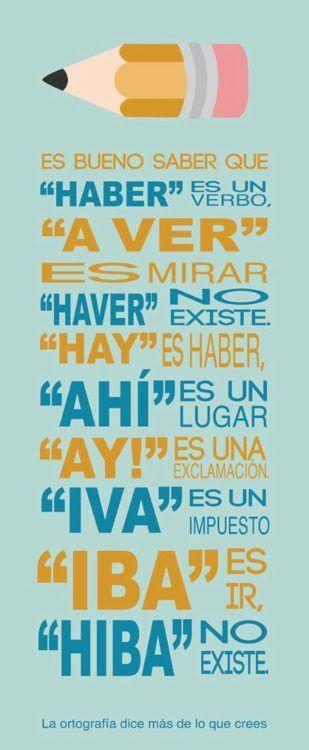 faltas de Ortografía comunes - español