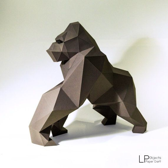 You can make your own Gorilla Model DIY paper craft projects to create a polygonal shaped sculpture. It is a paper 3D paper sculpture that can be put together by folding, gluing and assembling.  It can be placed like art or decoration. It looks really great and modern on your place.  Difficulty Level: Medium ( You need approximately 5-6 hours to build )  Paper Crafts : Gorilla Model Gorilla Model Size : 46 cm Height, 26 cm wide, 50 cm deep Use paper : A4 color card paper 160 -300 gsm…