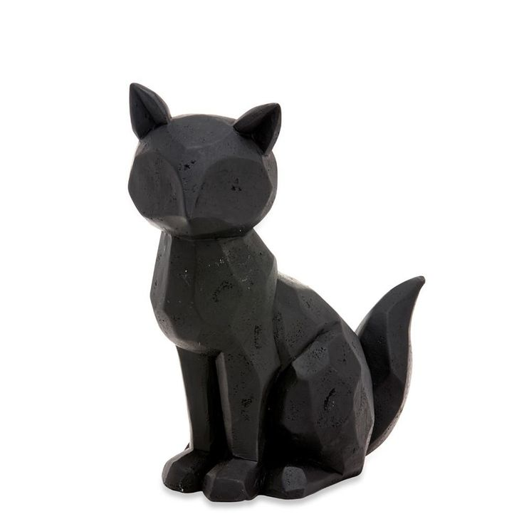 Black Sitting Geo Fox