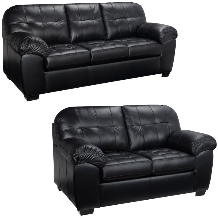 Black Leather Couches best 25+ leather sofa and loveseat ideas only on pinterest | sofa