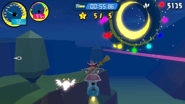"Vroom In The Night Sky - more gameplay details HD Rumble supported pricing   - Europe and North America prices are 8.99 / $9.99 respectively - available launch day in Europe ""March"" in North America - play as Luna a Magical Girl that ride on a Magical Bike - fly around the night sky in order to collect Stardusts - collect a certain number of them in order to open the gate (and move to the next level) - by pulling off various techniques you can collect more Stardusts - complete various…"
