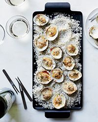Clams Broiled with Lemon, Thyme and Parmesan Recipe - Gerardo Valenzuela | Food & Wine
