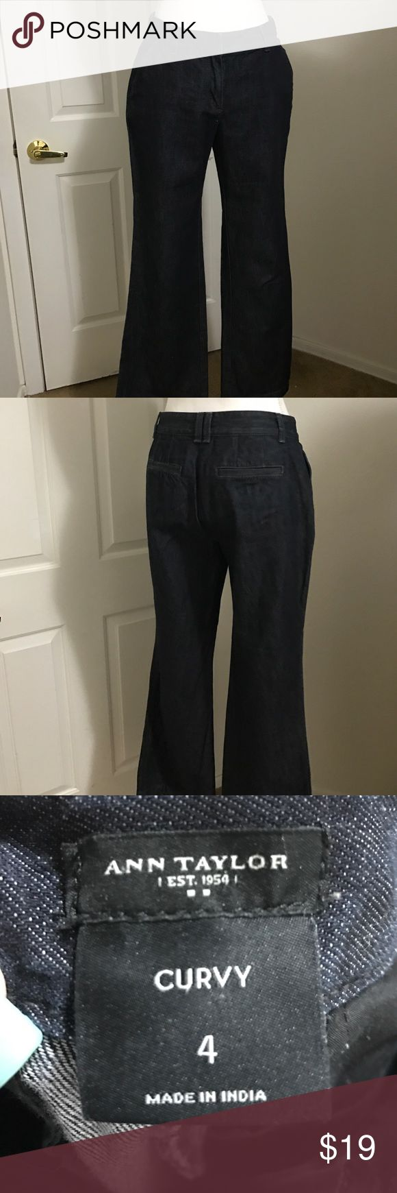Ann Taylor size 4 curvy jeans Brand new without tags Ann Taylor curvy jeans size 4 very nice classy jeans Ann Taylor Jeans Boot Cut