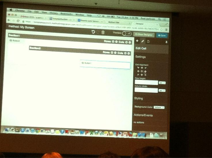 June 25, 2013 @PaulAlexJackson demoing Method's new designer. Attendees are STOKED by how fast the new designer is :-) #SNH2013