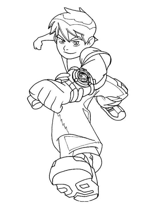 pictures ben tennyson coloring for kids ben 10 coloring pages kidsdrawing free coloring pages online - Ben 10 Coloring Pages