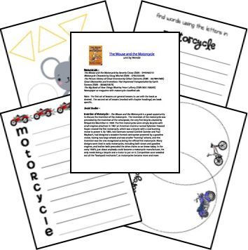 FREE Mouse and the Motorcycle Printables~ Good place to start for a novel study of this popular children's book.