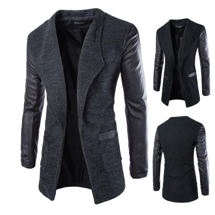 Men's Fashion - New Winter Fashion  Leather Sleeve
