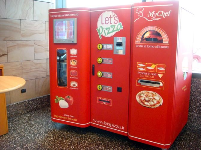 "This ""Let's Pizza"" vending machine in Italy is so much more than a microwave. Description from today.com. I searched for this on bing.com/images"