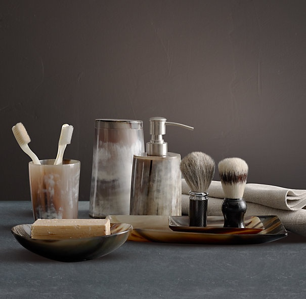 I Just Bought Natural Horn Bathroom Accessories From Home Outfitters For  The Powder Room!