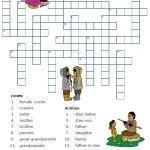 free printable spanish worksheet family vocabulary la familia los parientes relatives