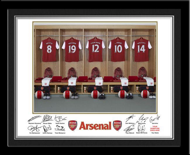 Joes room-Personalised Name On Shirt Photo - Arsenal FC