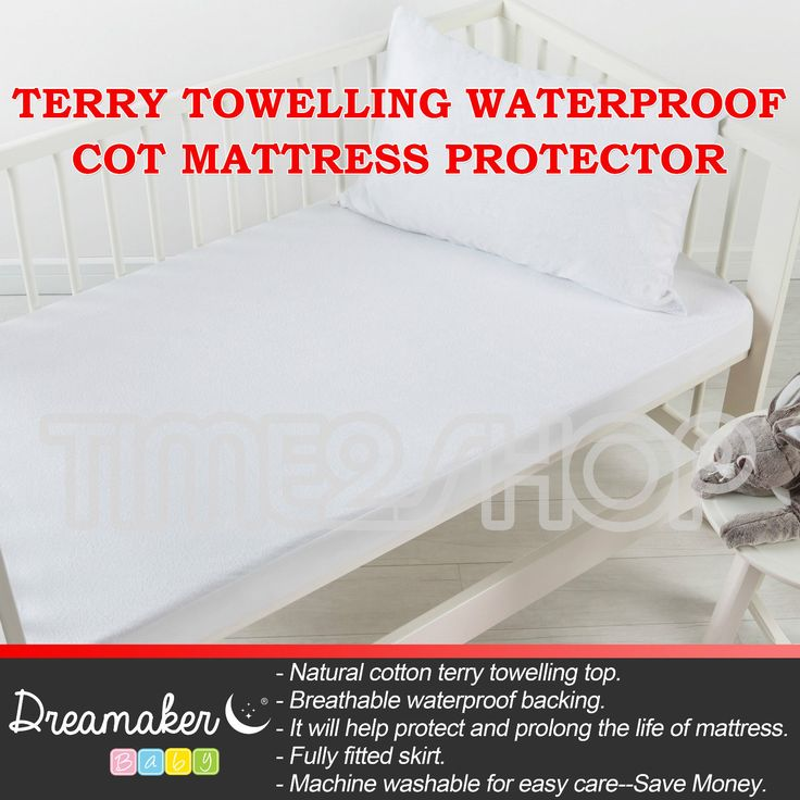 NEW Terry Towelling Waterproof COT Mattress Protector Boori Standard Cotton Soft | eBay