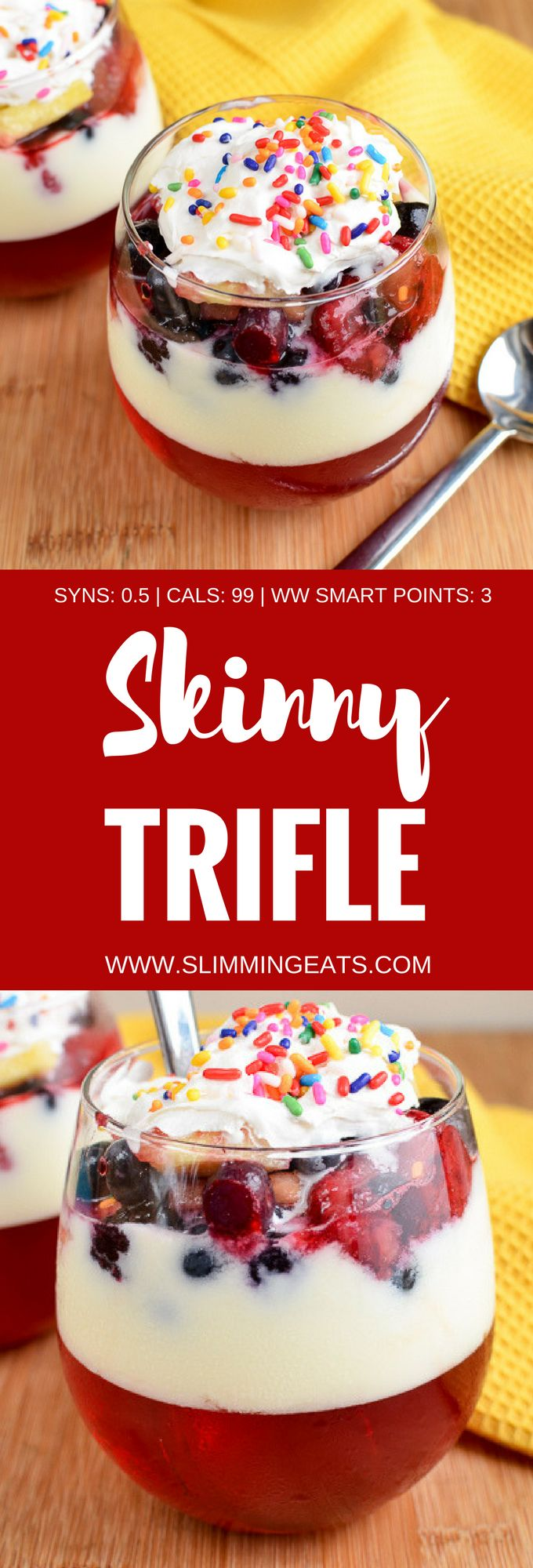 Slimming Eats Low Syn Skinny Trifle - gluten free, Slimming World and Weight Watchers friendly