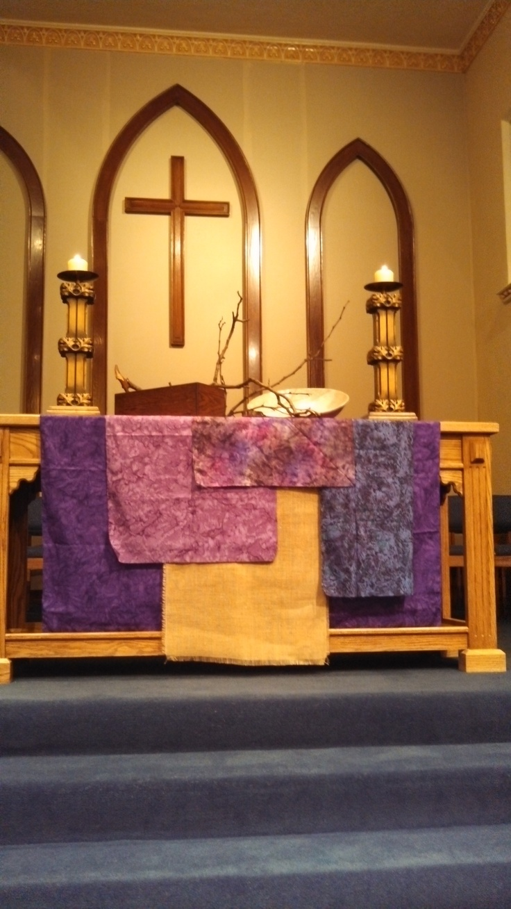 16 best church environment lent images on pinterest for Advent decoration ideas