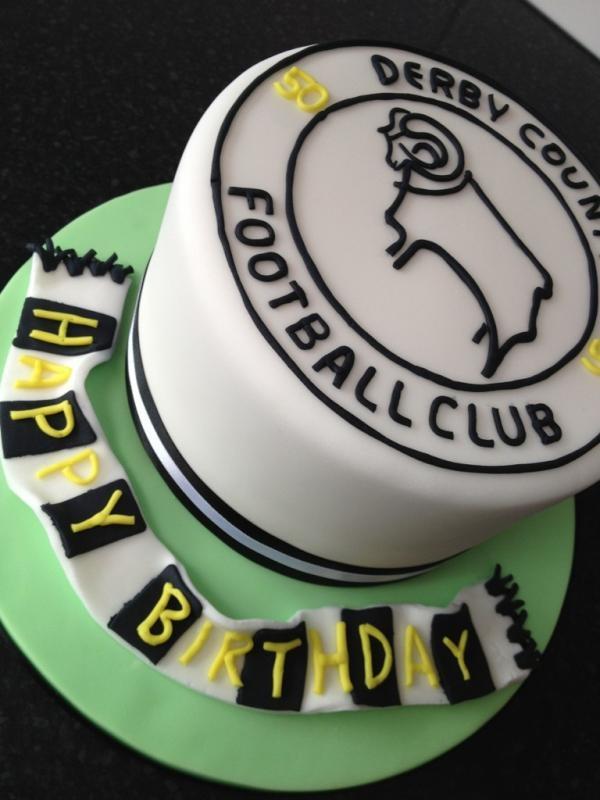 Twitter / kellyemmaellis: Derby county football cake!! ...