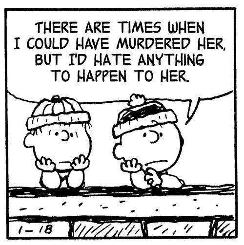 A funny--and genius--concept of combining panels from Peanuts with lyrics from Smiths songs
