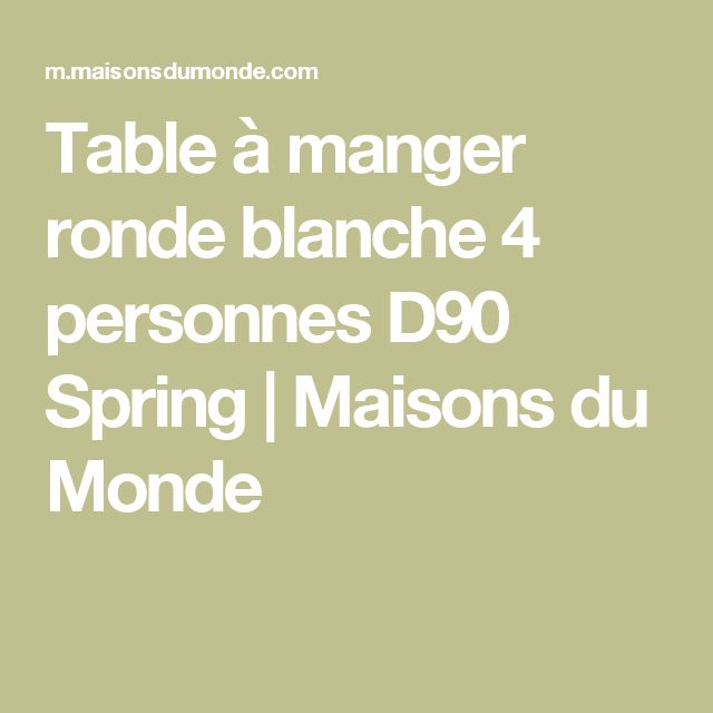 The 25 best table ronde blanche ideas on pinterest table de salon ronde t - Petite table ronde blanche ...