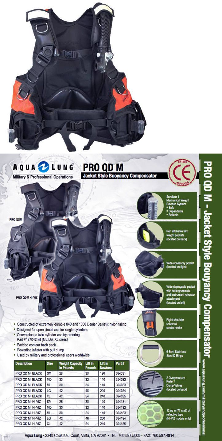 Buoyancy Compensators 16053: Aqua Lung Pro Scuba Bcd Hi-Vis Buoyancy Compensator, Integrated Weight System,Lg -> BUY IT NOW ONLY: $369.99 on eBay!
