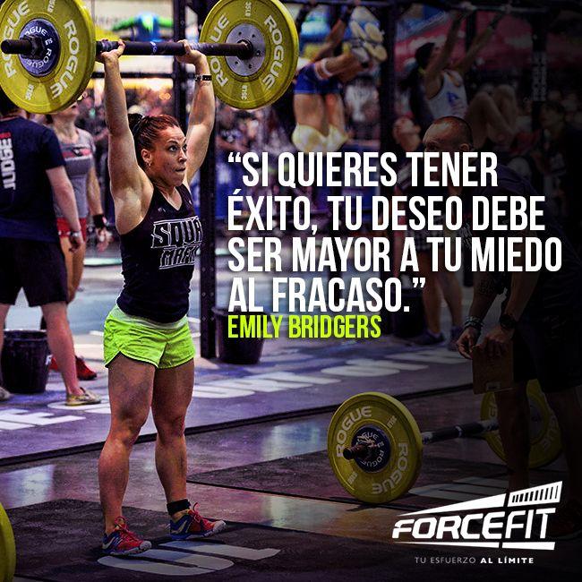 Si quieres tener éxito, tu deseo debe ser mayor a tu miedo al fracaso. #EmilyBridgers #Crossfit #CrossfitGirls #Rookie #Frases #Motivacion #Exito #Forcefit