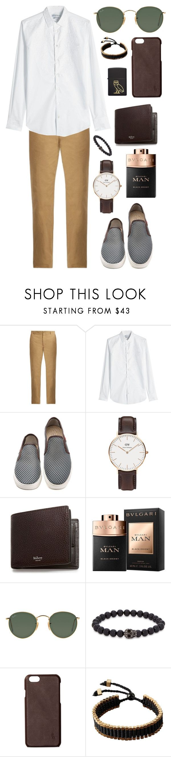 """""""Untitled #724"""" by clary94 ❤ liked on Polyvore featuring De Bonne Facture, Alexander McQueen, Daniel Wellington, Mulberry, Bulgari, Ray-Ban, Simon Carter, Polo Ralph Lauren, Vitaly and Zippo"""
