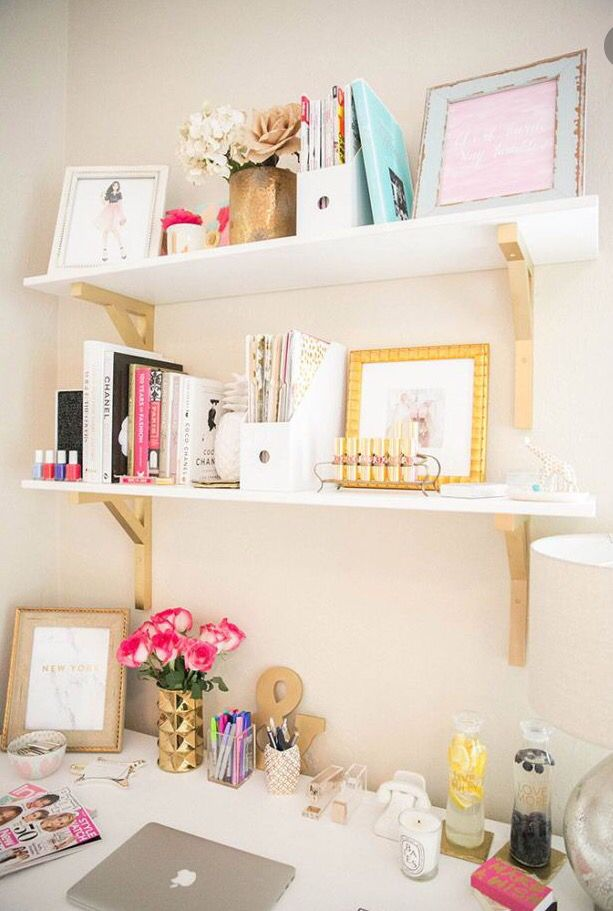 love the shelfs because the gold part that holds them up is not just white :)