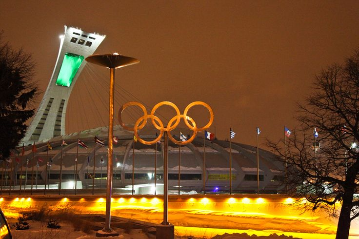 olympic stadium montreal night - Recherche Google