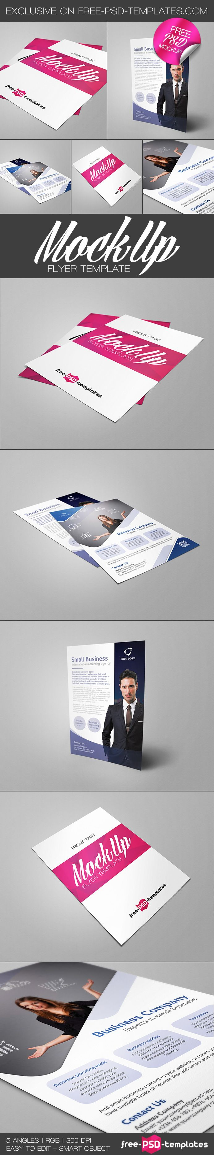 17 best ideas about flyer mockup psd brochure flyer mockup for photoshop contains 5 different variations for personal and commercial
