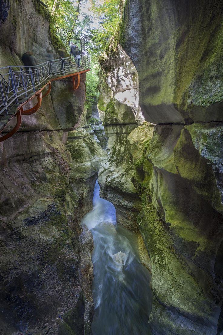 Au coeur des gorges du fier Le Fier est l'une des principales rivières de la Haute-Savoie. A 10 Km d'Annecy, il a creusé l'un des plus grandioses phénomènes d'érosion par les eaux courantes, les Gorges du Fier, classées parmi les plus grandes curiosités des Alpes.