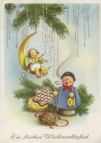 Weihnachten, Wendt & Kühn Engel-Volkskunst Erzgebirge-Lebkuchen, Räuchermann | eBay