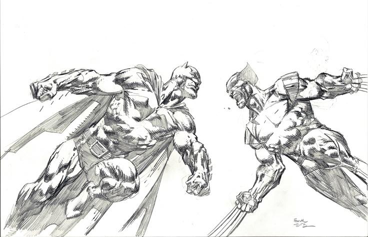 Batman vs Wolverine by David Finch | Battle of Heroes ...