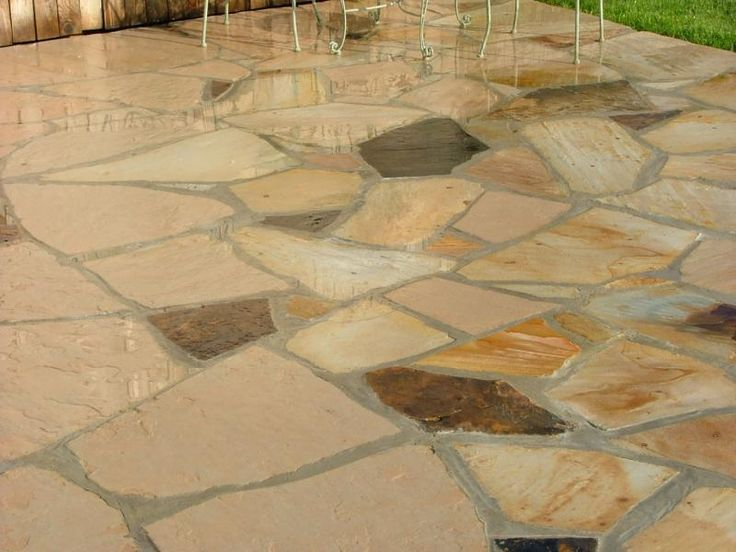 images of retaining wall with flat patio irregular