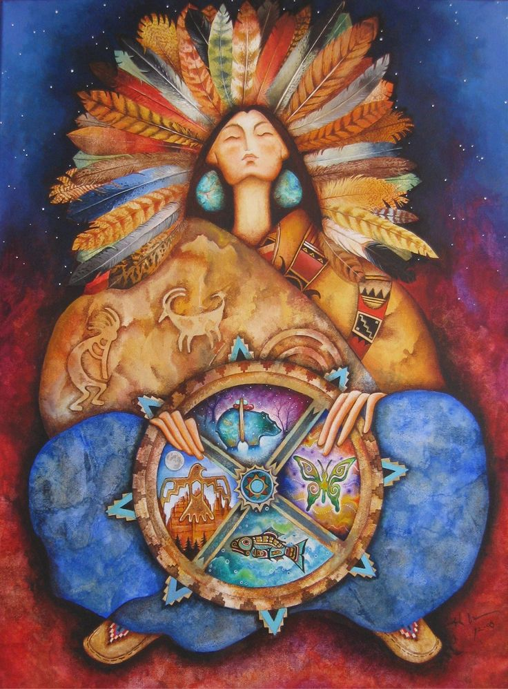 Medicine Wheel Earth Mother..anyone know the name of this artist?