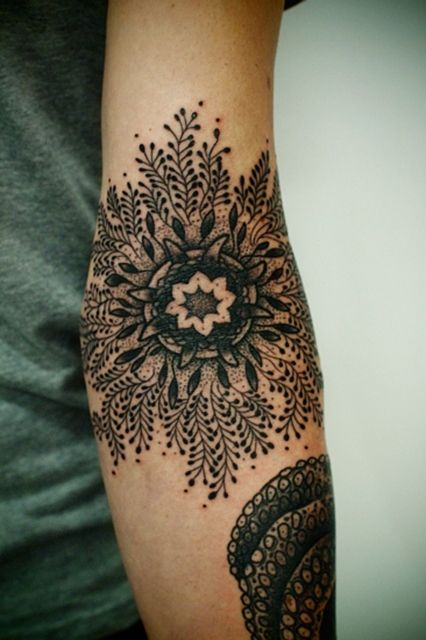 A Fashion Person's Guide To Tattoo Trends #refinery29 http://www.refinery29.com/fashion-tattoos#slide9