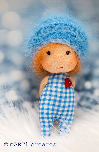 Travel Buddy Tiny Little Waldorf inspired Doll by mARTicreates