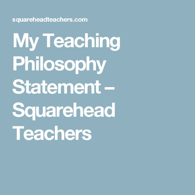 my educational goals and philosophy statement My educational philosophy statement i believe in a teaching philosophy that facilitates discovery of each student potential through support, honor, and a when a teacher holds high expectation for the growth and achievement of each student, s/he can set goals and realistic expectations for each child.