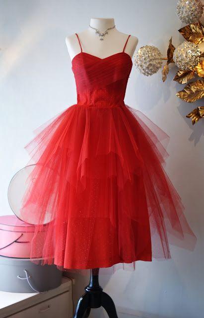 1000  images about tea length vintage formal dresses on Pinterest
