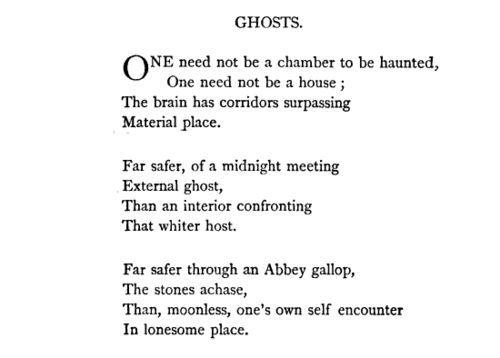 "Emily Dickinson, ""Ghosts"""