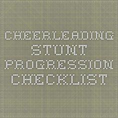Cheerleading Stunt Progression Checklist