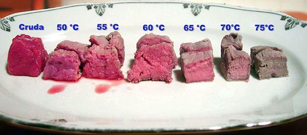 Le diverse temperature della carne