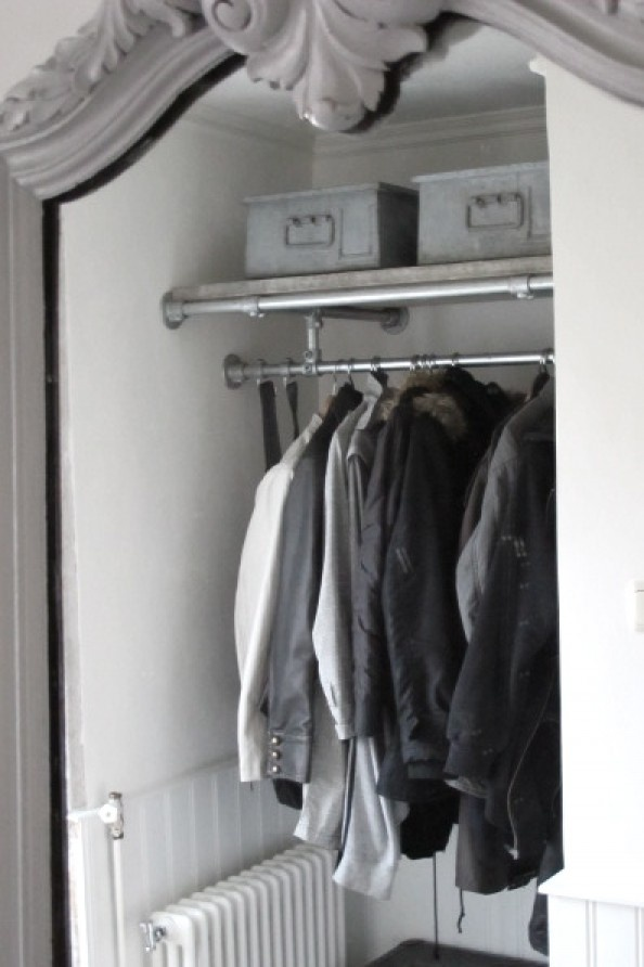 pipe closet rod & shelf
