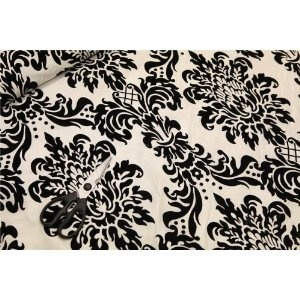 Cream Victoria Fl Taffeta Damask Velvet Flock Soft Faux Silk Ideal 4 Cushions Curtains Sofas Living Room Curtainssofa Upholsteryfabric