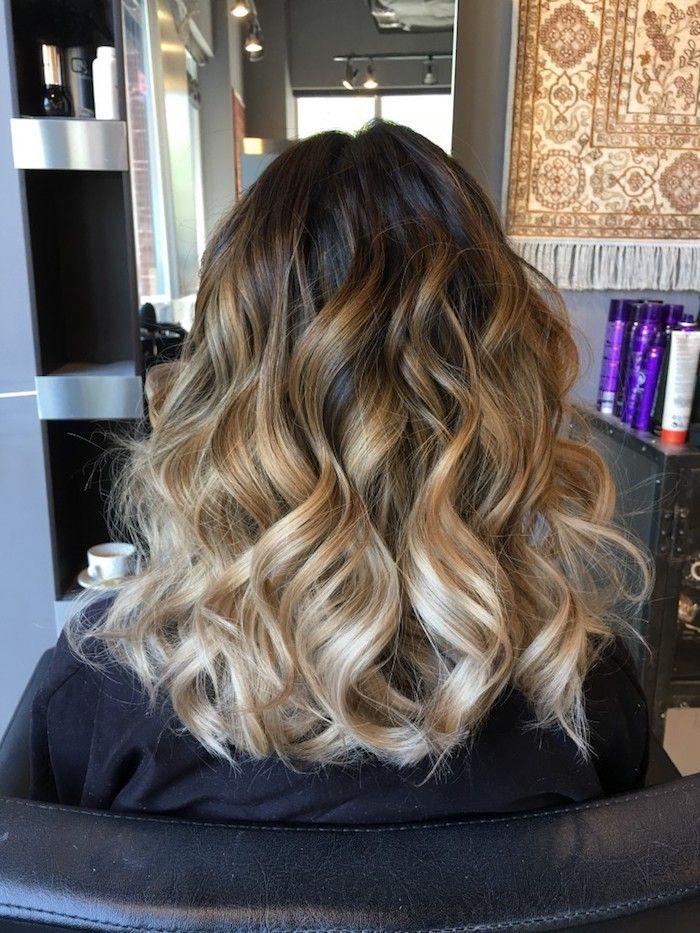 Haarfarben Trends 2019 Ombre Blond Drawing Apem