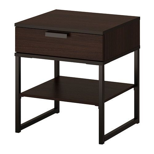 TRYSIL Nightstand   - IKEA  I got one of these for $20 off ($19) in the scratch-and-dent.  It looks really nice with the black-brown Hemnes bed.  I'll get another for the other side of the bed in a few months for $39.99.