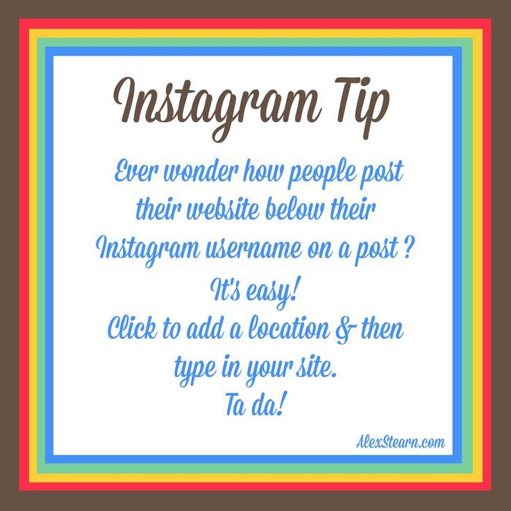 Ever wonder how people post their website below their Instagram username?  It's easy!