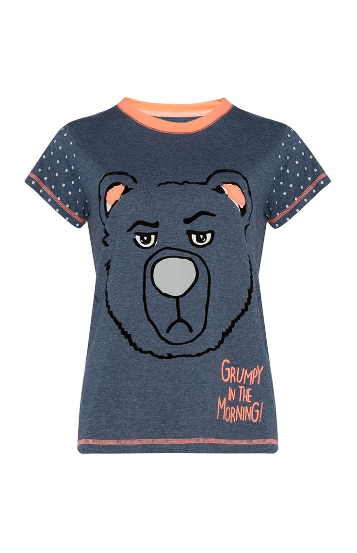 Primark - Blauw T-shirt Grumpy Bear