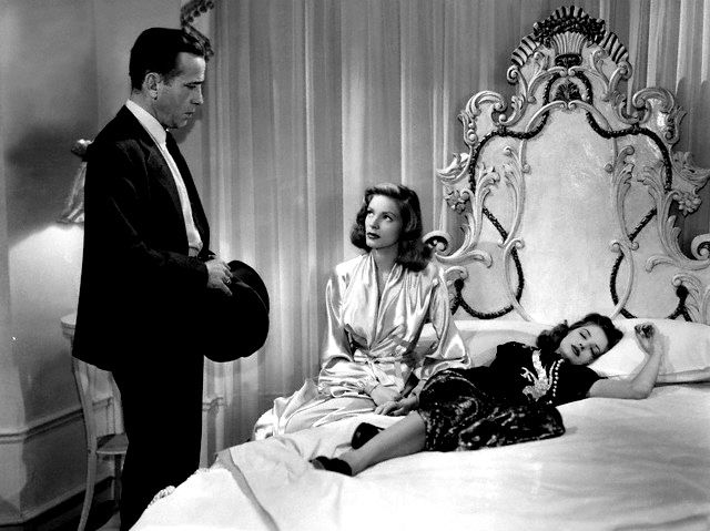 Humphrey Bogart, Lauren Bacall and Martha Vickers in  The Big Sleep (1946).