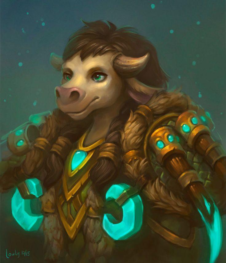 Commission: Tauren, Druid by lowly-owly.deviantart.com on @DeviantArt